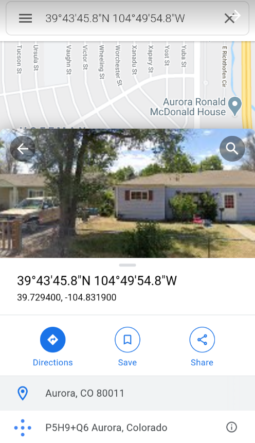 This is one of the places Nicole's 'ghost' cell phone is routing to and it is near [Buckley AFB]. Agents at PTAN  discussed this plan to control her communications.